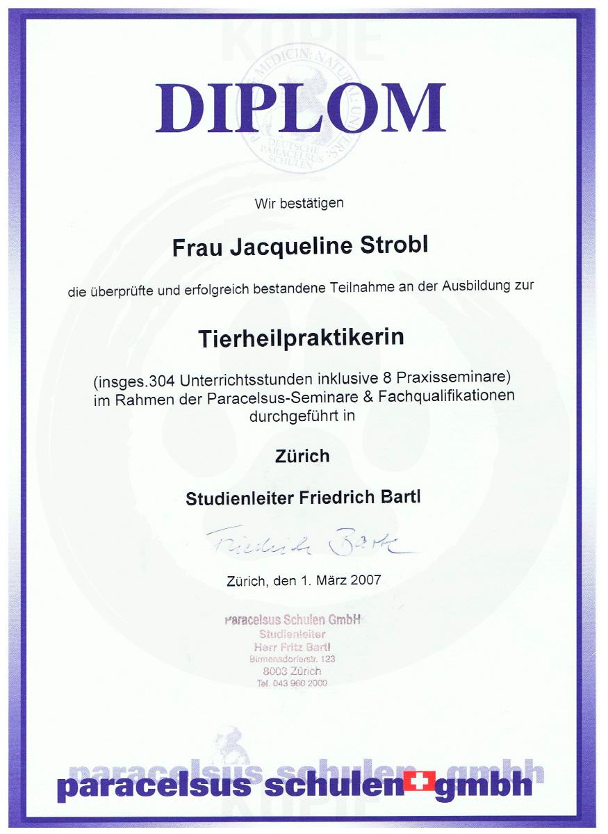 Diplom Tierheilpraktikerin